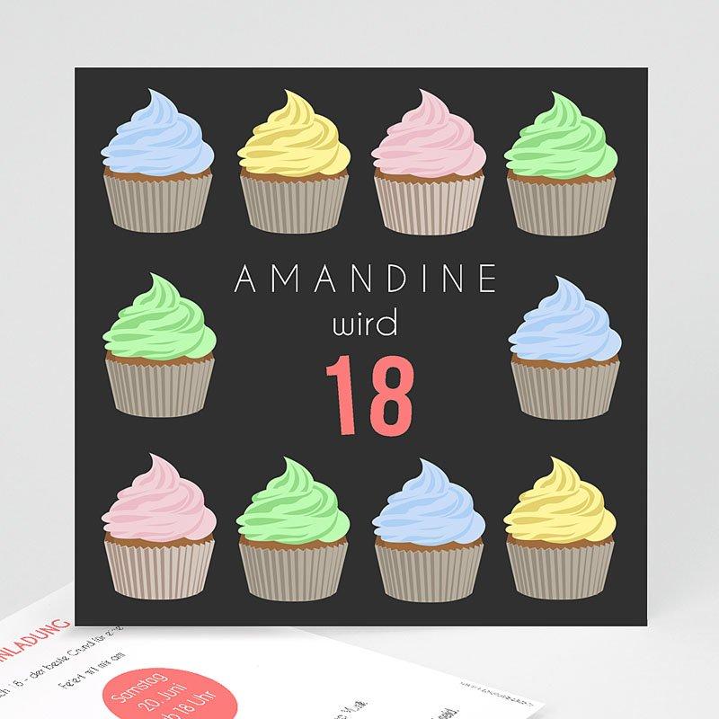 Erwachsener Einladungskarten Geburtstag Cup Cake