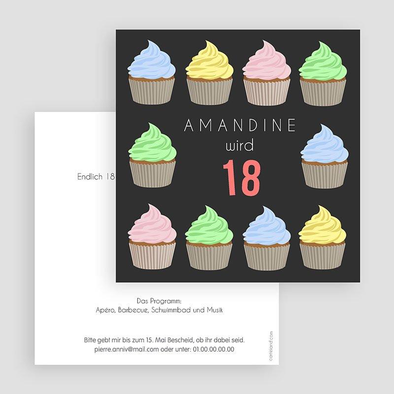 Erwachsener Einladungskarten Geburtstag Cup Cake gratuit