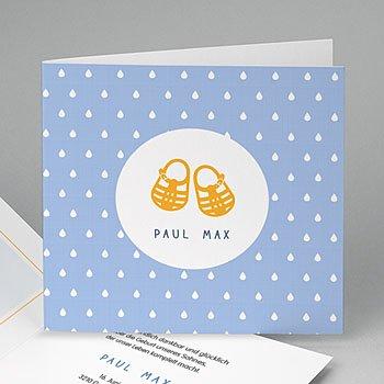 Geburtskarten für Jungen - Sandalen für Jungen - 0