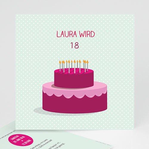 Erwachsener Einladungskarten Geburtstag Geburtstagskuchen