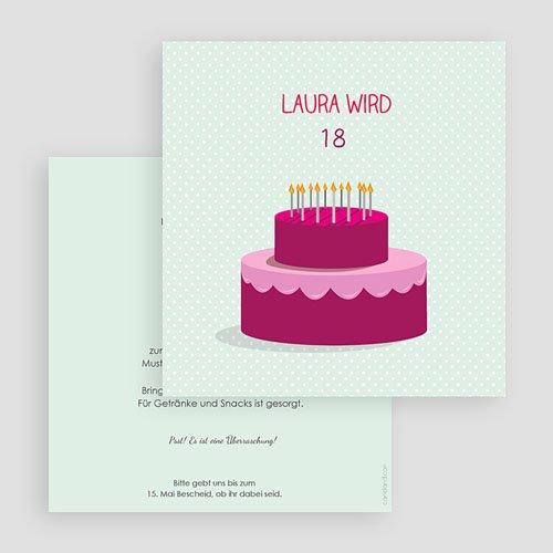 Erwachsener Einladungskarten Geburtstag Geburtstagskuchen gratuit