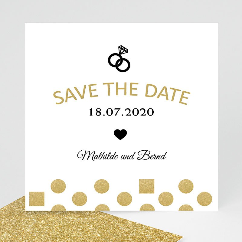Save The Date  - Pailletten und Ring 43662 thumb