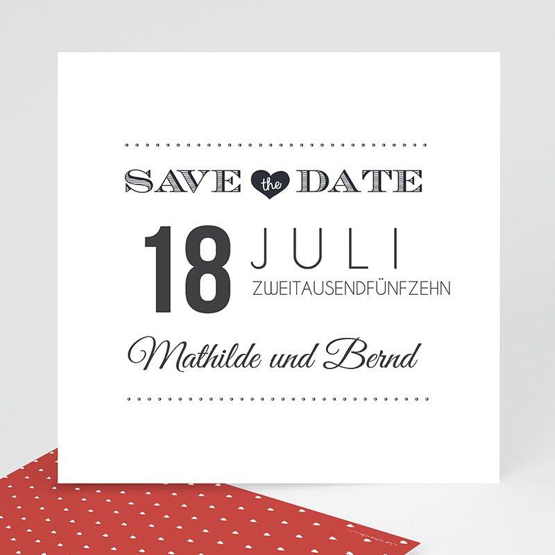 Save The Date Karten Hochzeit Antidater