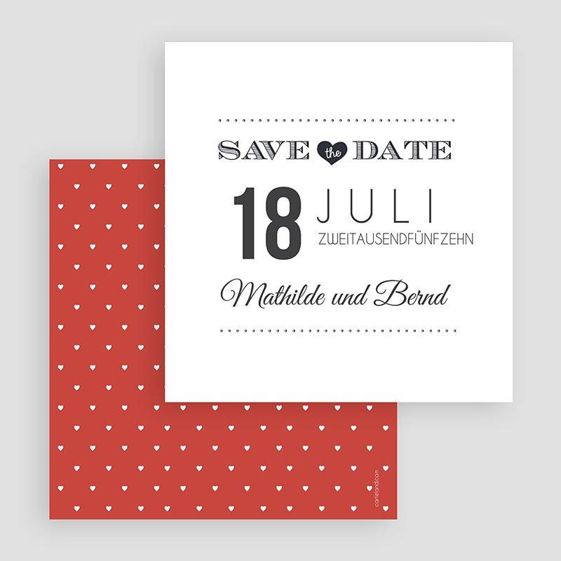 Save The Date Karten Hochzeit Antidater gratuit