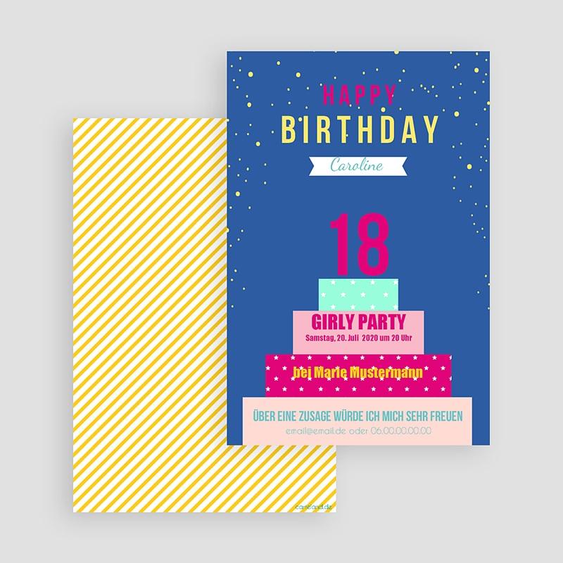 Erwachsener Einladungskarten Geburtstag 18 Jahre gratuit