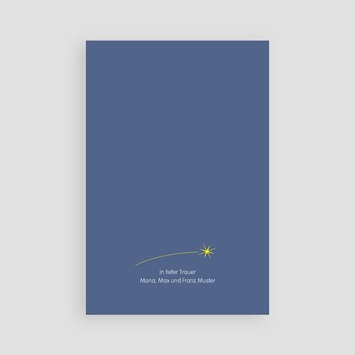 Weltlich Dankeskarten Trauer Engel blau pas cher