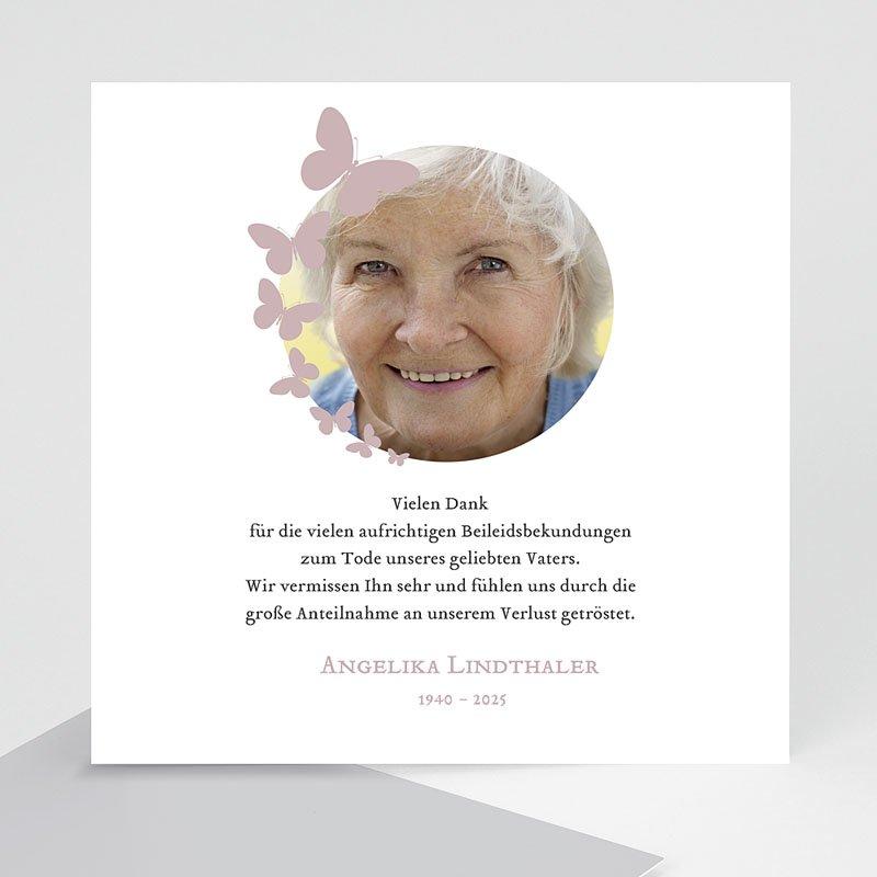 Weltlich Dankeskarten Trauer Schmetterlinge