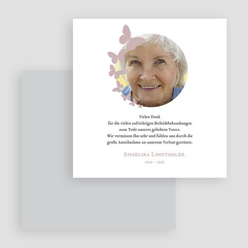 Weltlich Dankeskarten Trauer Schmetterlinge gratuit