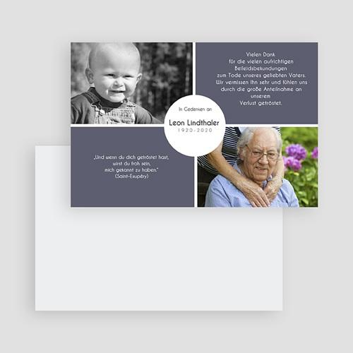 Weltlich Dankeskarten Trauer Abschied in Anthrazit gratuit