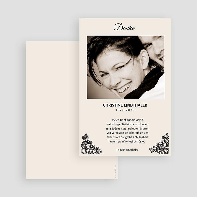Weltlich Dankeskarten Trauer Dekorativ gratuit