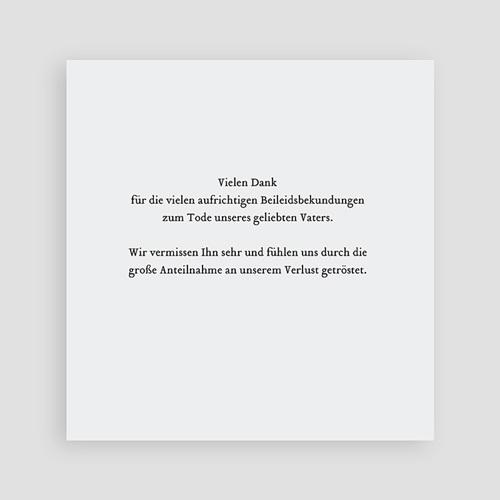 Weltlich Dankeskarten Trauer Andenken schlicht - Quadrat pas cher