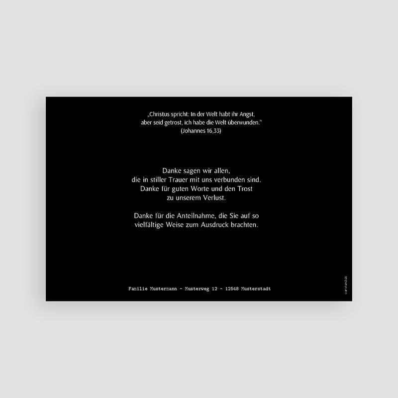 Trauer Danksagung weltlich - Symbolisch Taube 43821 thumb