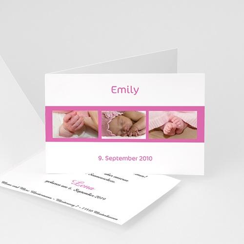 Geburtskarten für Mädchen - Fotoserie Rosa 4396