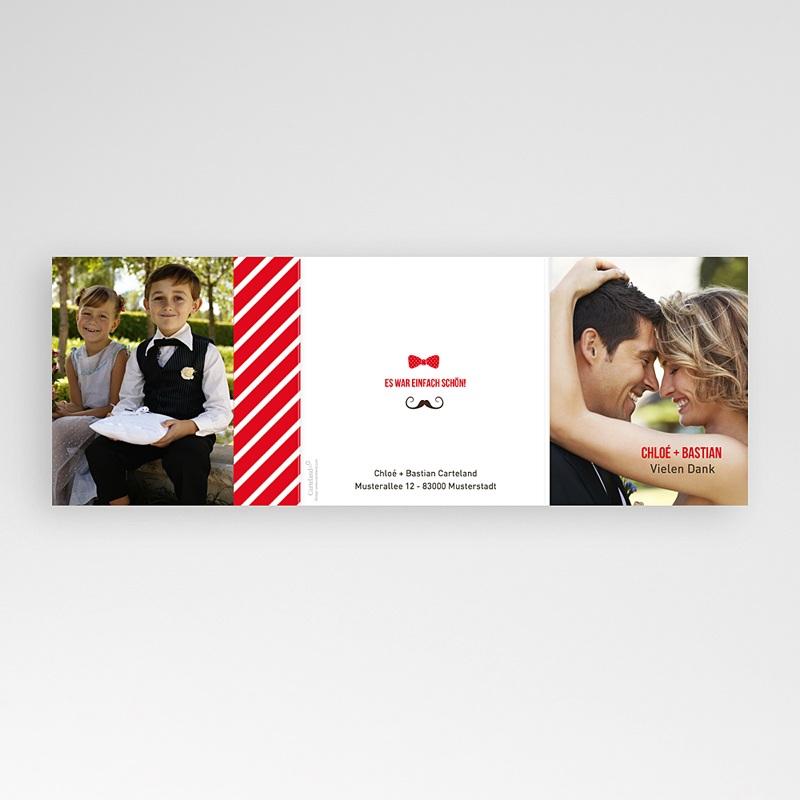 Danksagungskarten Hochzeit  Brautpaar gratuit