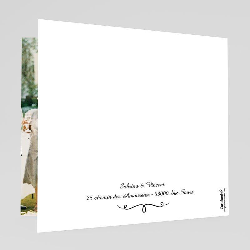 Danksagungskarten Hochzeit  Schlichte Eleganz gratuit