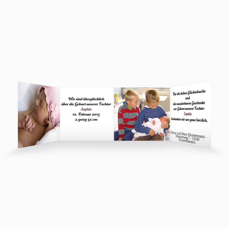 Geburtskarten für Mädchen - Entstehende Liebe 4401 thumb