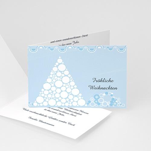 Weihnachtskarten - Weihnachtskarte Schneepyramide 4406