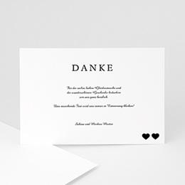 Danksagungskarten Hochzeit  - Classique noir - 0