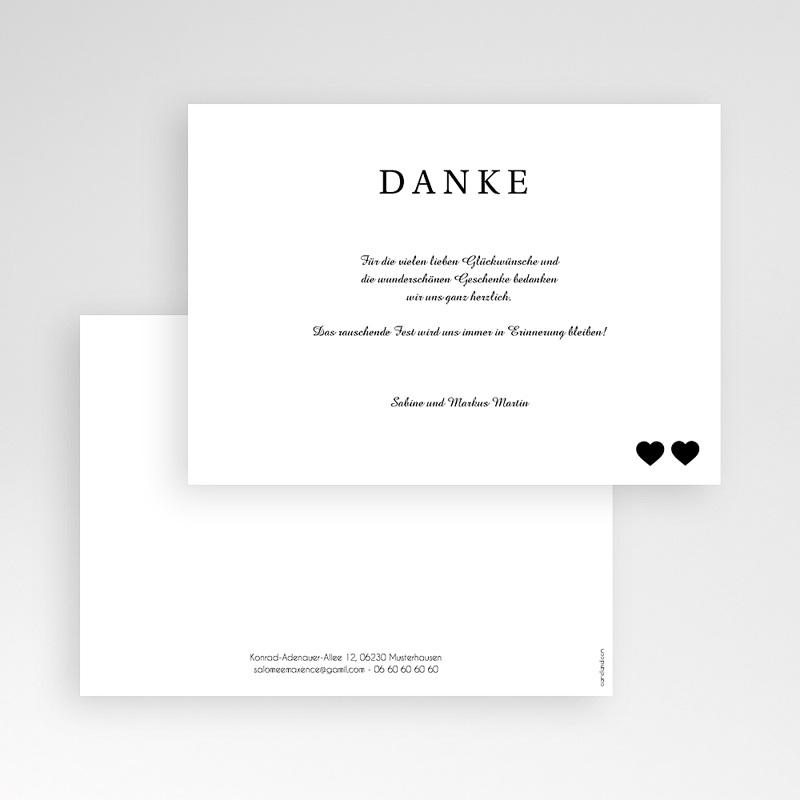 Danksagungskarten Hochzeit  Pure Eleganz  pas cher