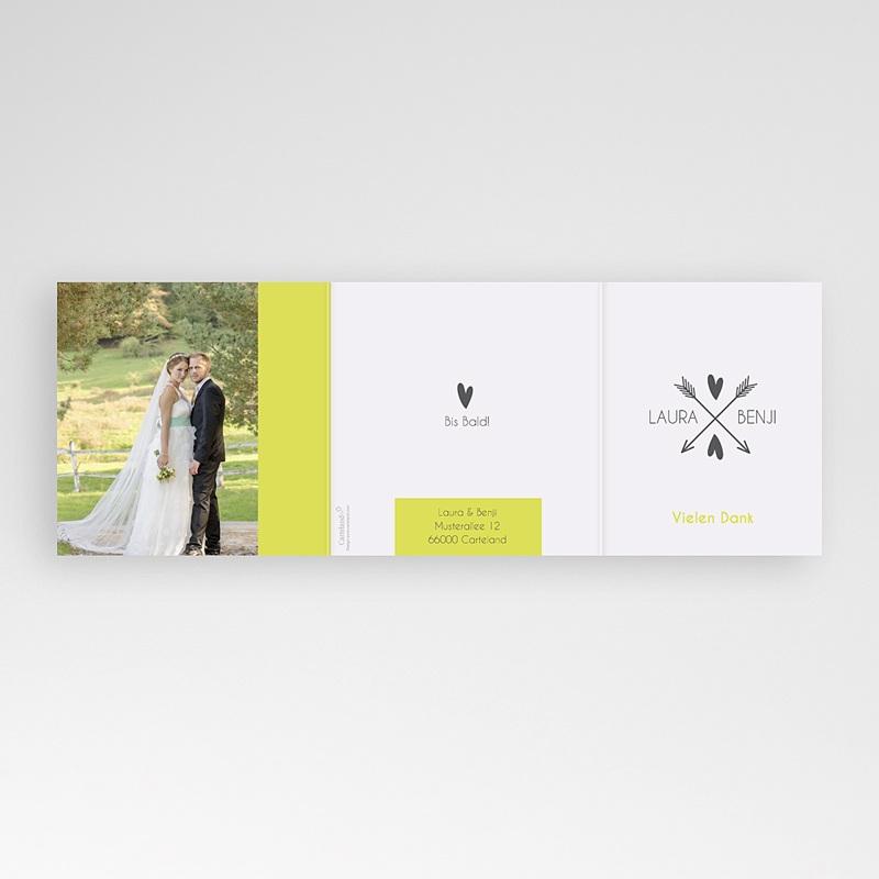 Danksagungskarten Hochzeit  Liebespfeil gratuit