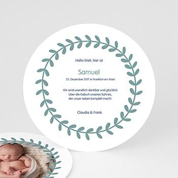 Klassische Geburtskarten online gestalten - Kränzchen - 0