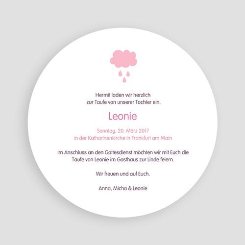 Einladungskarten Taufe für Mädchen Tropfen rosa pas cher