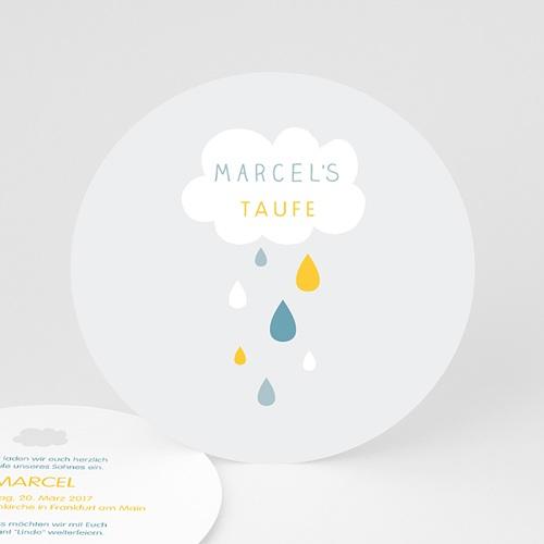 Einladungskarten Taufe für Jungen Wolke & Tropfen