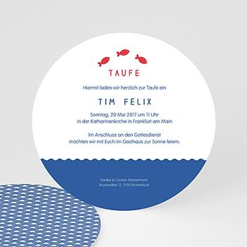 Einladungskarten Taufe Mädchen - Sprng ins Wasser - 0