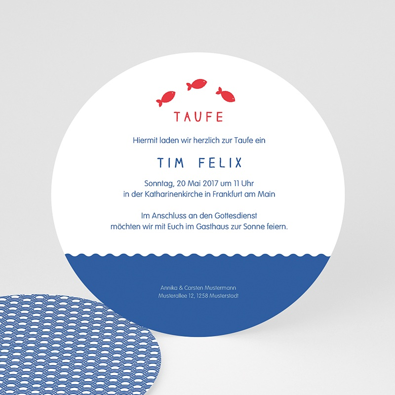 Einladungskarten Taufe für Mädchen Sprung ins Wasser