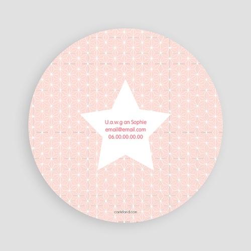 Einladungskarten Geburtstag Mädchen Stern Rosa