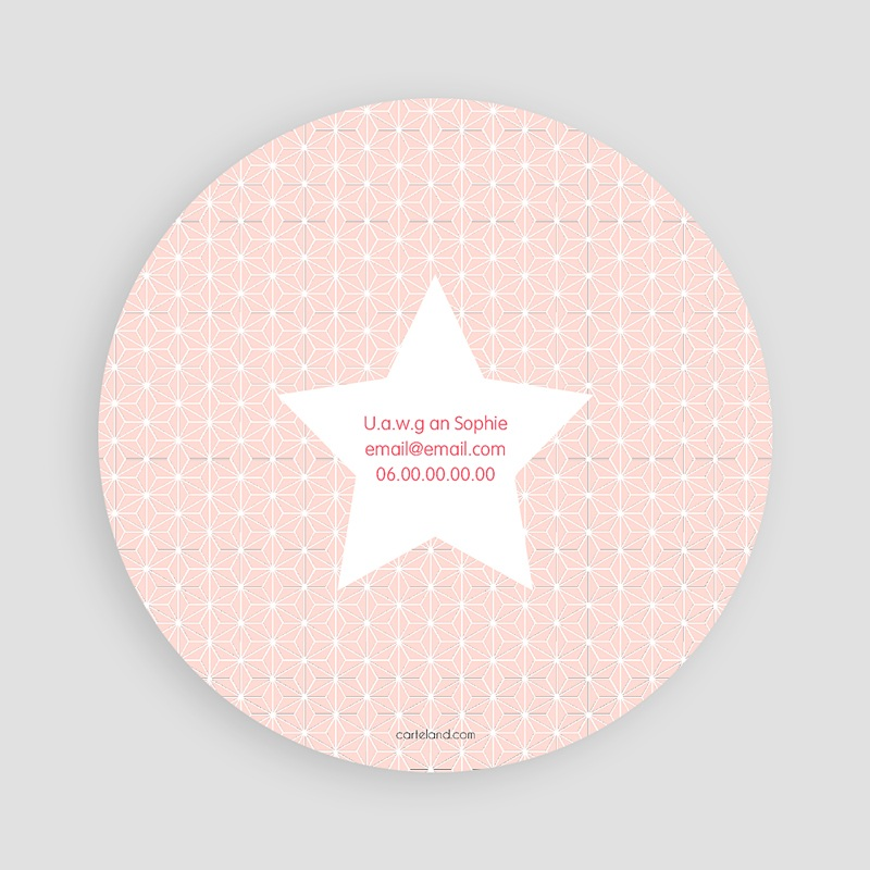 Einladungskarten Geburtstag Mädchen Stern rosa pas cher