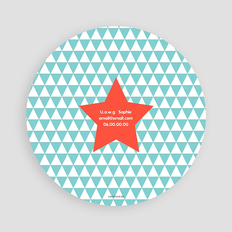 Einladungskarten Geburtstag Jungen Stern orange pas cher