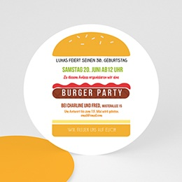 Runde Geburtstage - Burger Party - 0