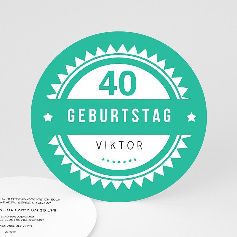 Erwachsener Einladungskarten Geburtstag Vintage Grün