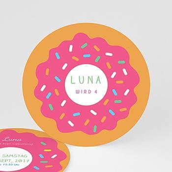 Geburtstagseinladungen Mädchen - Donuts party - 0