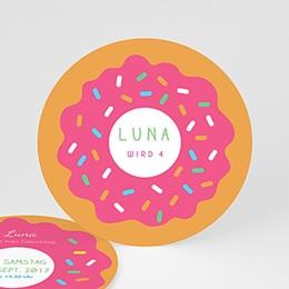 Einlegekarte Kindergeburtstag Donuts party
