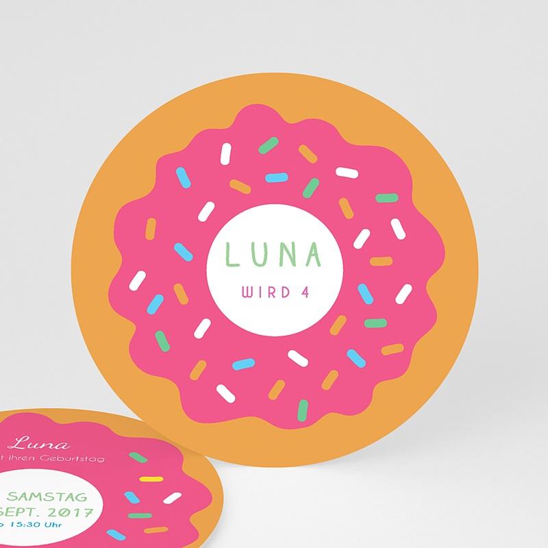Geburtstagseinladungen Mädchen - Donuts party 44256 thumb