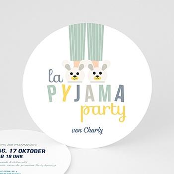Geburtstagseinladungen Jungen - Pyjama Party - 0