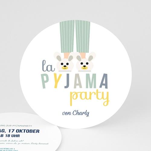 Einladungskarten Geburtstag Jungen Pyjama Party