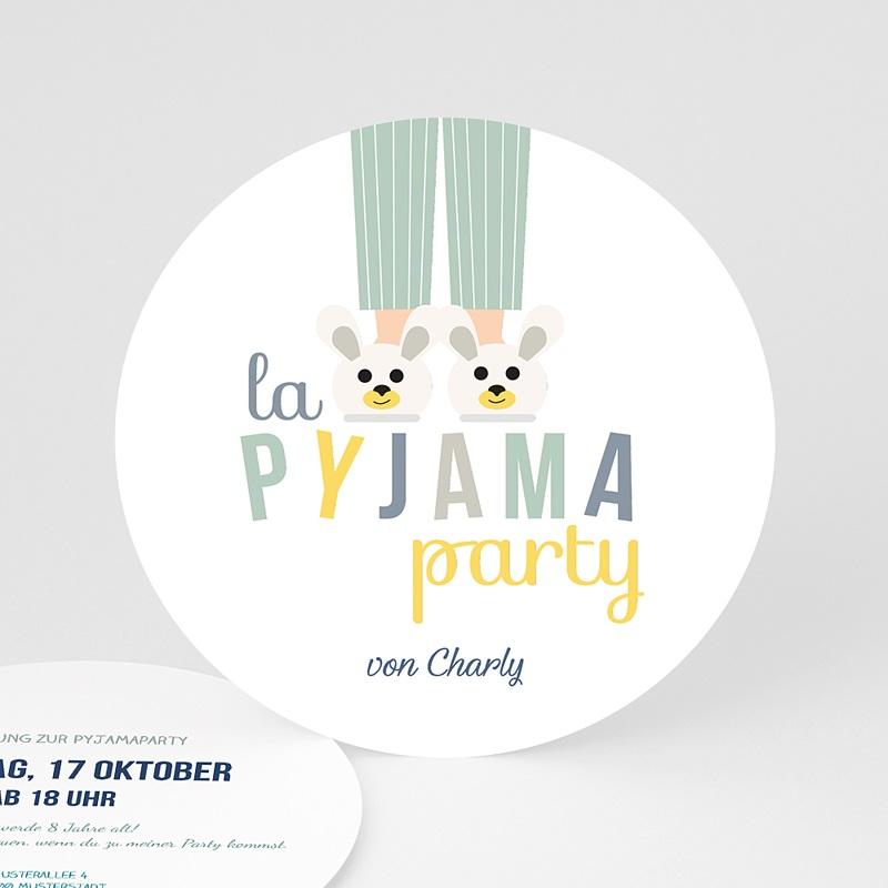 Geburtstagseinladungen Jungen   Pyjama Party   0