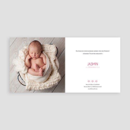 Geburtskarten ohne Fotos - Vintage 44277 test