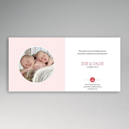 Babykarten für Zwillinge gestalten - Kirschpaar 44289 preview