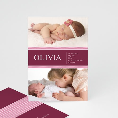 Geburtskarten für Mädchen - Olive 443
