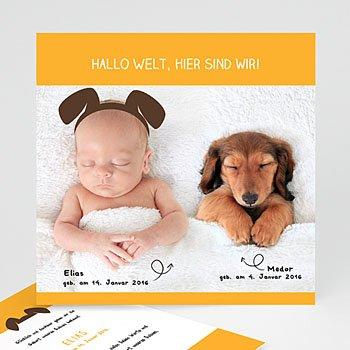 Geburtskarten für Jungen - Wuff - 0