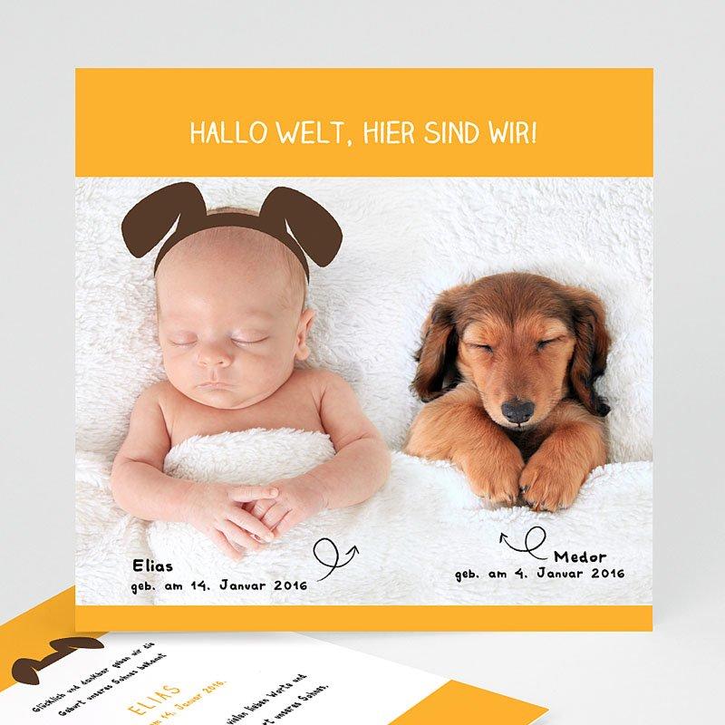 Geburtskarten für Jungen Wuff