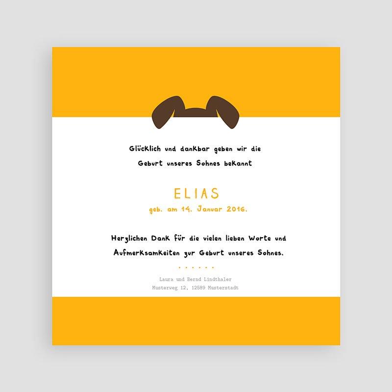 Geburtskarten für Jungen Wuff pas cher