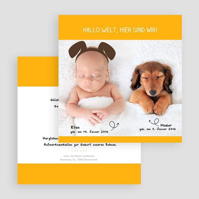 Geburtskarten für Jungen Wuff gratuit