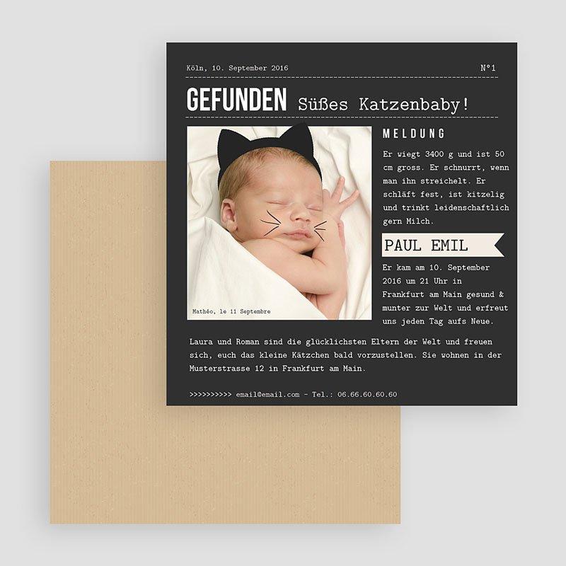 Geburtskarten für Jungen Katze gratuit