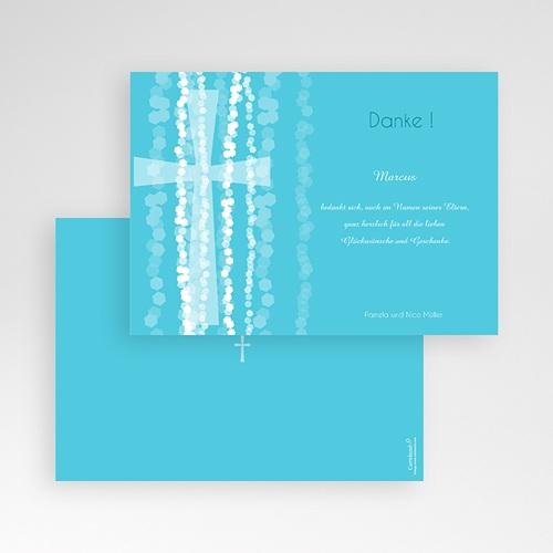 Dankeskarten Taufe Jungen - Taufkarte Kreuz 44333 preview