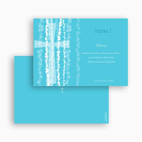 Dankeskarten Taufe Jungen - Taufkarte Kreuz 44334 preview